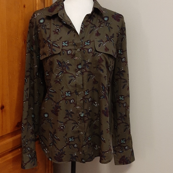 Floral Button Front Shirt